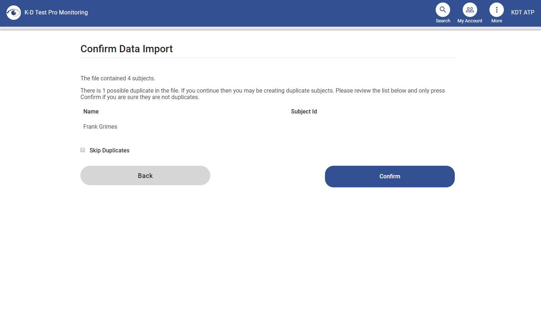screenshot of error and duplicate detection