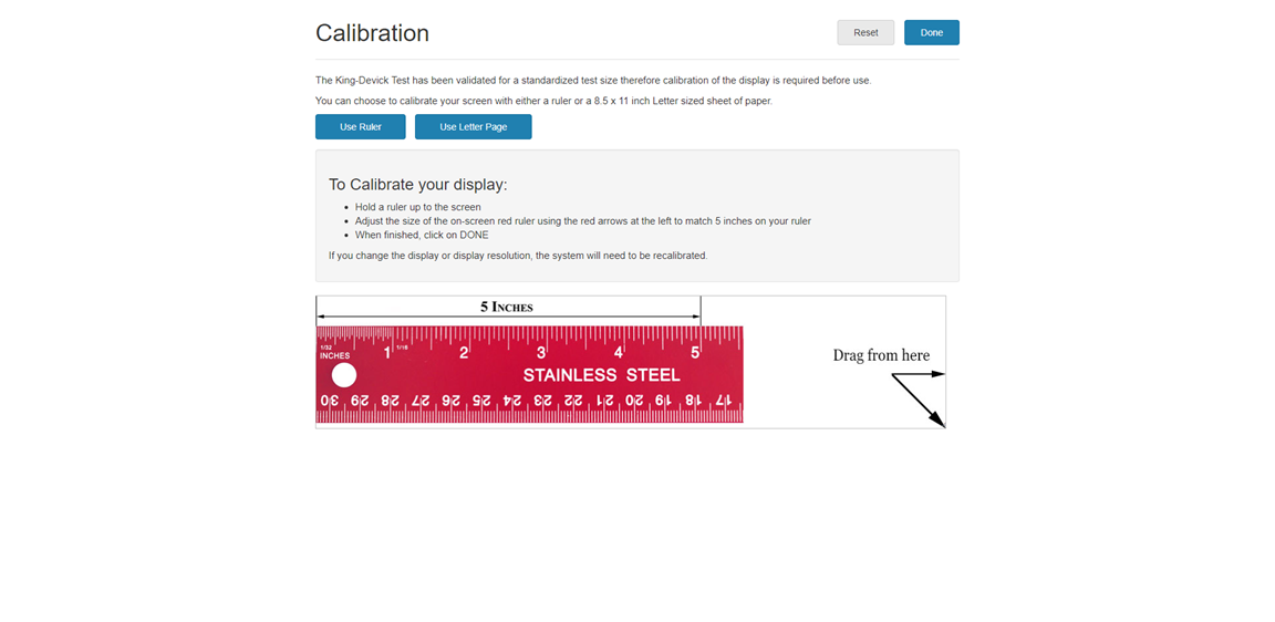 Calibration Page