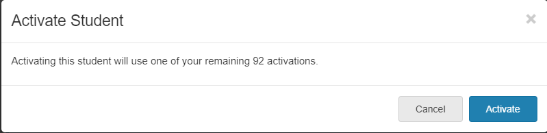 Activate Subject Confirmation
