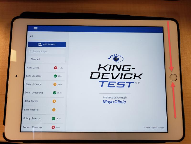 iPad with KDt App